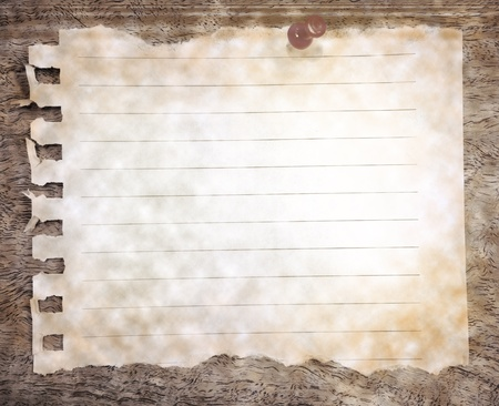 note patch diary on wood texture background photo