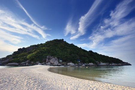 nangyuan: sea beach and mountain in island