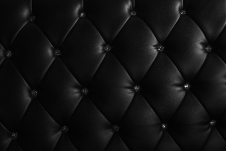 black leather texture: pattern of black leather with crystal decorated Stock Photo