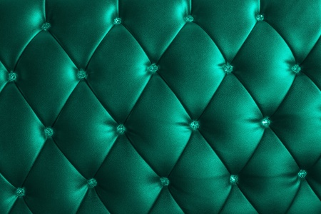 opal: pattern of metalic blue green leather with crystal decorated Stock Photo
