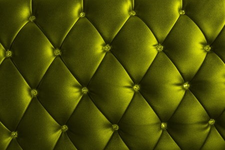 pattern of metalic green leather with crystal decorated photo