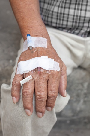 hand and blood test tube photo