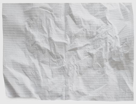 wrinkle texture of white napkins background photo