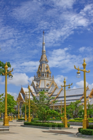wat sothorn chacherngsao thailand  important temple and one of landmark  photo