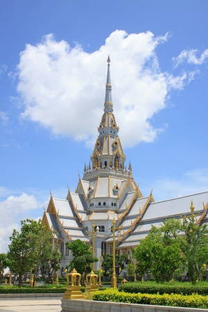 buddhist temple roof: wat sothorn chacherngsao thailand important temple