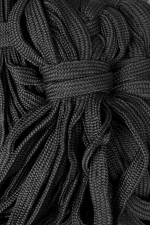 fasten: black rope fasten Stock Photo