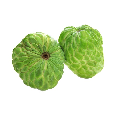 custard apple fruit: custard apple isolated white