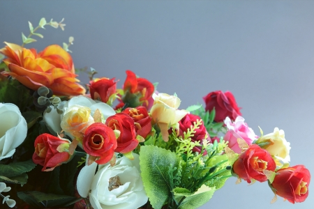 bouquet of flowers water color painting  photo