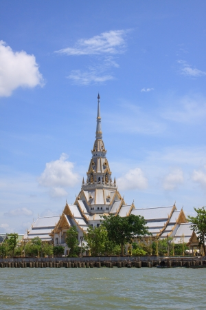 dignified: A great marble church, Wat Sothorn, Chachoengsao Thailand
