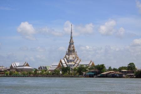 chachoengsao: A great marble church, Wat Sothorn, Chachoengsao Thailand