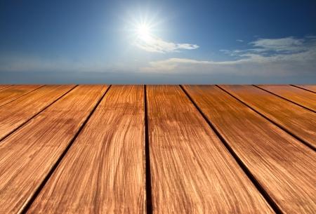 atmosfere: legno prospettiva terrazza a cielo