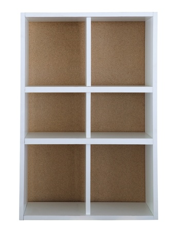 white board shelf house hold isolated white photo