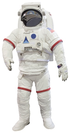 suite: astronaut suit isolated on white background Stock Photo