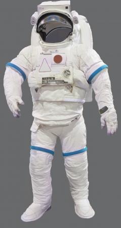 astronauta: traje de astronauta aislado sobre fondo blanco Foto de archivo