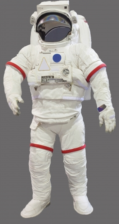 man in suite: astronaut suit isolated on white background Stock Photo