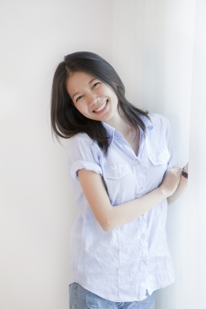 charms: face of asian woman  Stock Photo