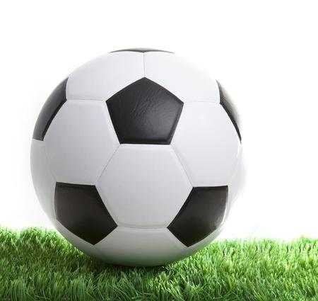 soccerball: soccer football on green grass field