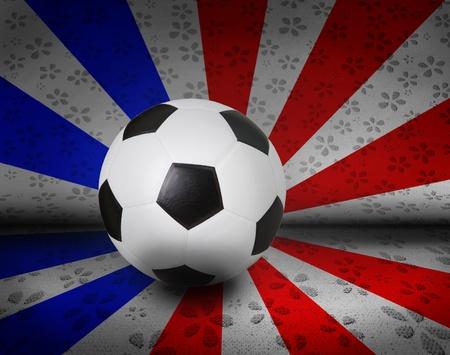 pasto sintetico: soccer football on color seem united kingdom uk english england flag Foto de archivo