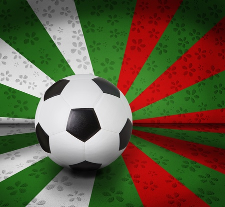 pasto sintetico: fútbol de fútbol en el color parecen Italia bandera