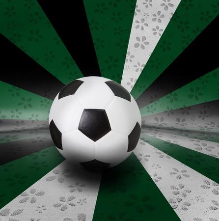 seem: soccer football on color seem national flag