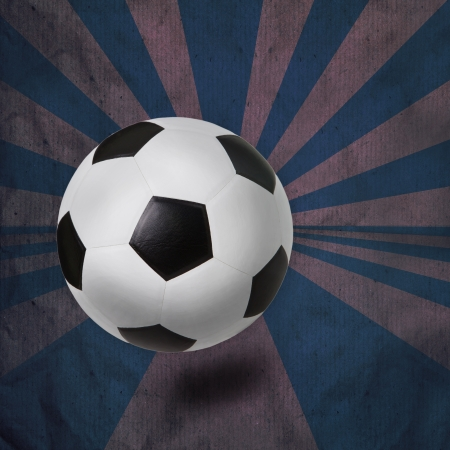 purple ray background and soccer football  photo