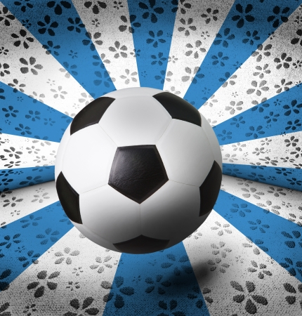 soccer football on blue vintage background photo