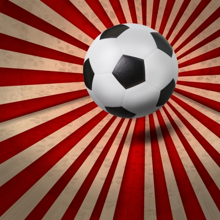 penalty flag: soccer football on colorful ray background