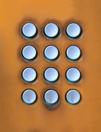 key board of number press button on public telephone free space for use as multipurpose on colorful texture photo