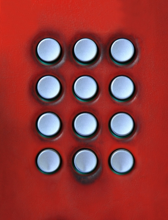 dialing pad: key board of number press button on public telephone free space for use as multipurpose on colorful texture