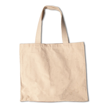 fabric bag: clothes cotton bag isolated white