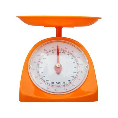 gewichtsmeting balans geïsoleerde witte achtergrond