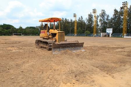back hoe: Excavators on working site