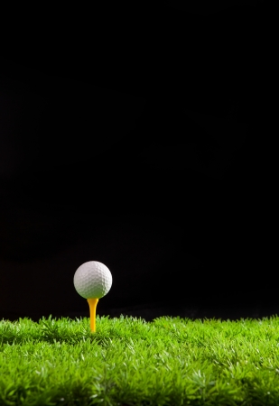 golf ball on green grass field Stock Photo - 15540658