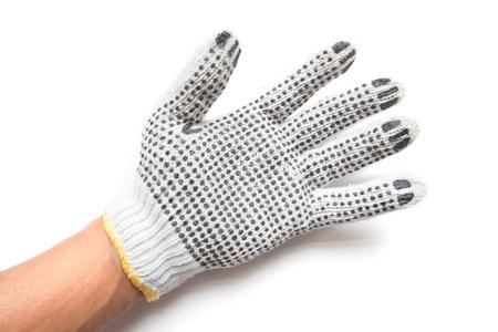 industrail: hand gloves on white background