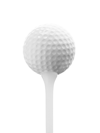 close up of golf ball texture on white background photo