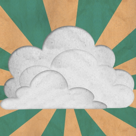 paper cloud and sky palar ray use as background photo