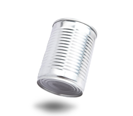 aluminium can: aluminium can floating on air with shadow bottom Stock Photo