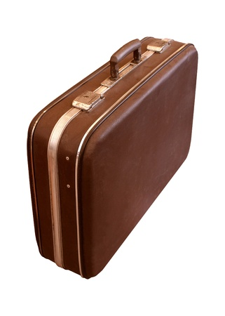 suit case: old suit case isolated white