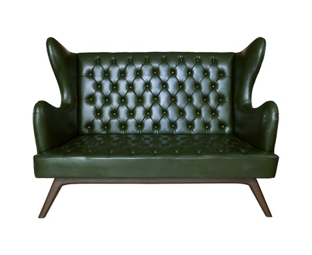 skin structure: luxury sofa leather isolated white