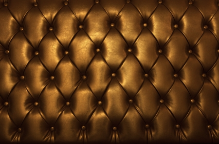 golden leather of luxury furniture photo