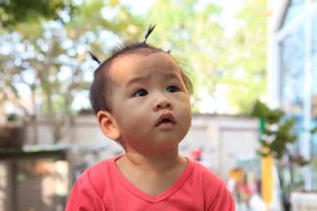 head shot of asian baby dressing hair Stock Photo - 16782841