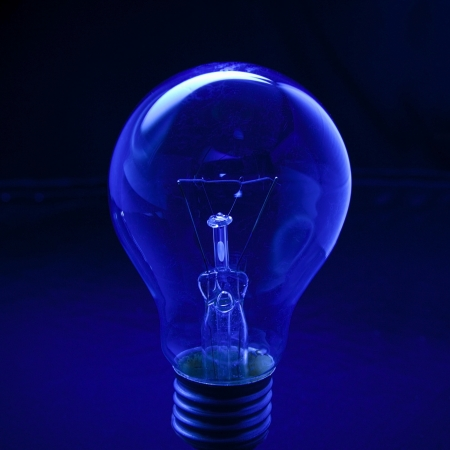 light bulb with low key  background
