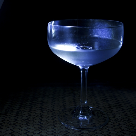 wine glass with low key light pack shot in studio photo