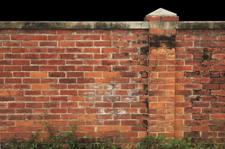old red brick wall  home fence  Stock Photo - 17796337