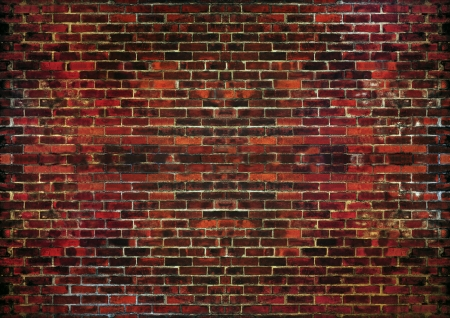 big brick wall red tone  use as grungy background Stock Photo - 17796373