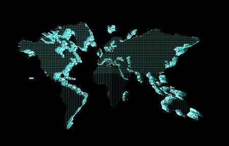 world map use for multipurpose Banco de Imagens