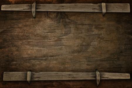 rancho: anuncio de madera con espacio libre para usos múltiples Foto de archivo