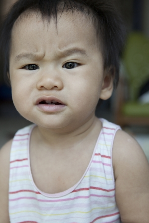 angry face of baby Stock Photo - 17928554