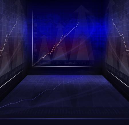 salle de guerre de la réunion d'affaires avec usage graphique d'arrière-plan contemporain indicateur multifonctionnel à thème d'affaires Banque d'images