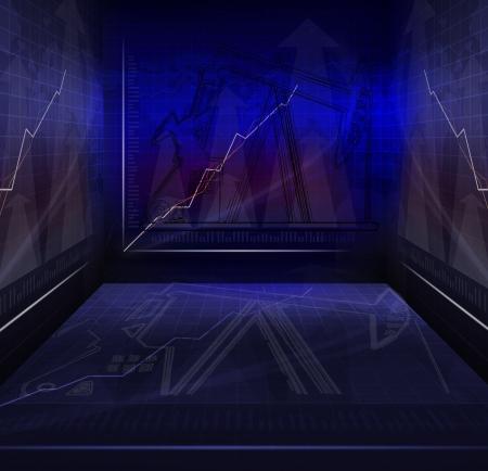 salle de guerre de l'huile et de carburant réunion d'affaires avec l'utilisation graphique de fond contemporaine indicateur multifonctionnel à thème d'affaires